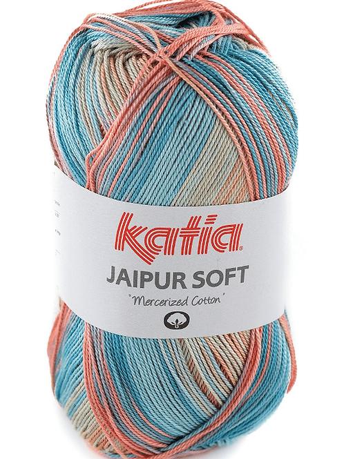 Jaipur soft 104 Wasserblau-Steingrau-Rosé