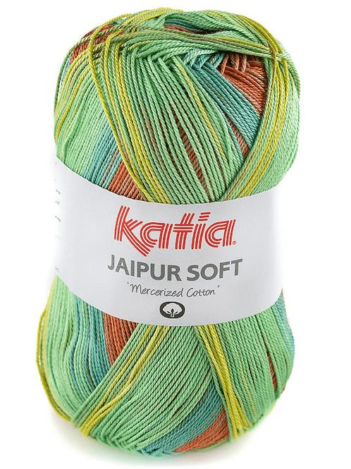 Jaipur soft 105 Rostrot-Gelb-Grün