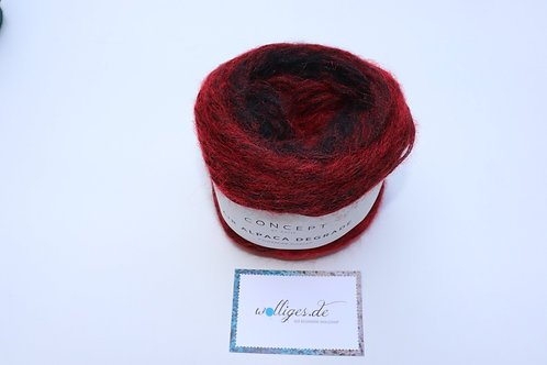 Air Alpaca Degradé 69-Rot-Schwarz