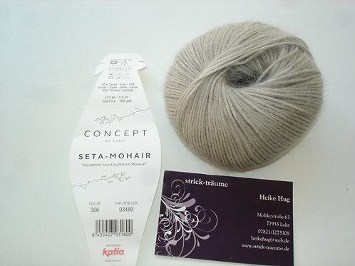 Seta-Mohair perlhellgrau 306
