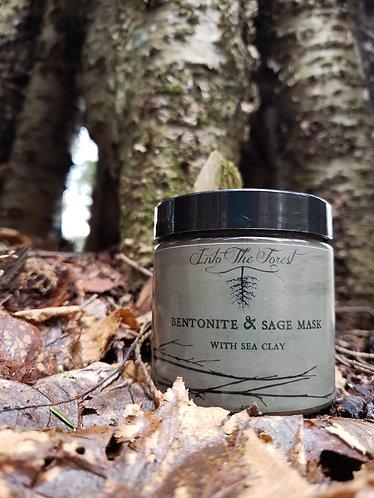 4 oz Bentonite & Sage Mask