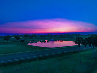 Beautiful morning over Woodford Thoroughbreds Farm in Ocala, FL