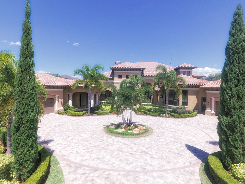 PDP Image of an estate home in Keene's Point, Windermere, FL touched up with the amazing Aurora HDR software.