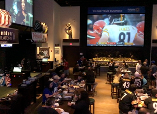 Premier Drone Productions' Commercial Shoot at Dewey's Indoor Golf & Sports Bar on NFL S