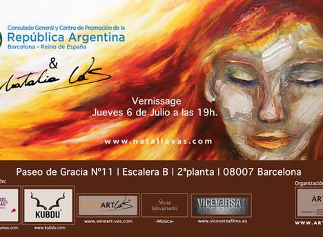 Expo by Natalia Vas con el Consulado Argentino en Barcelona