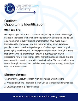 OUTLINE: Opportunity Identification