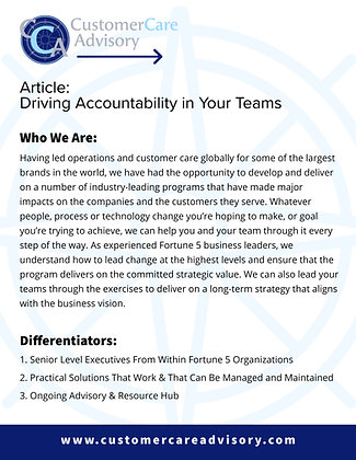 ARTICLE: Driving Accountability in Your Teams