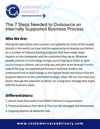 OUTLINE ONLY: Outsource an Internally Supported Business Process