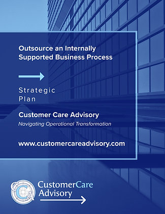STRATEGIC PRESENTATION: Outsource an Internally Supported Business Process