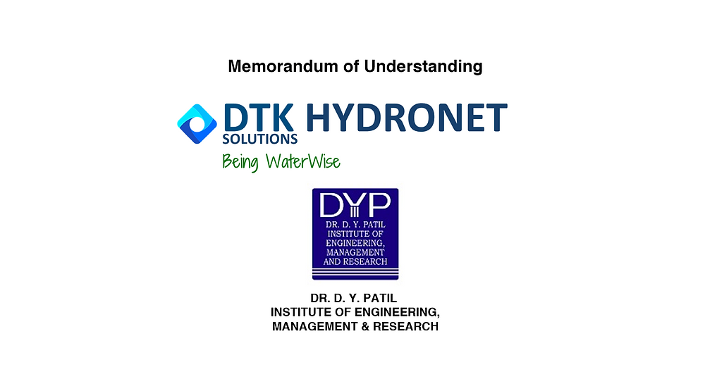 DTK signed an MoU with D Y Patil Institute of Engineering, Management and Research