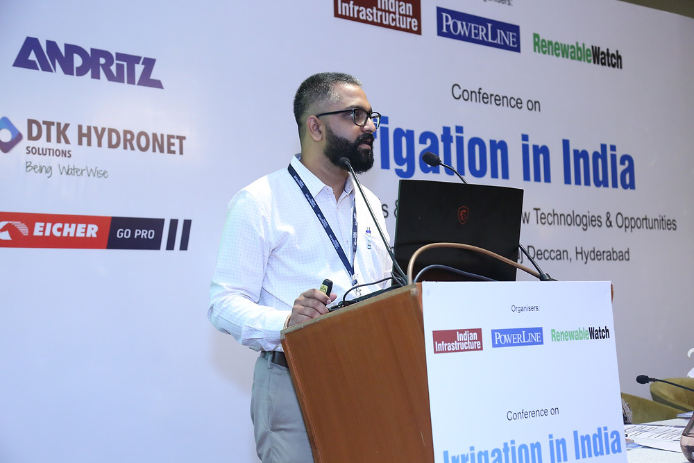 Tanay Kulkarni speaking at the Conference