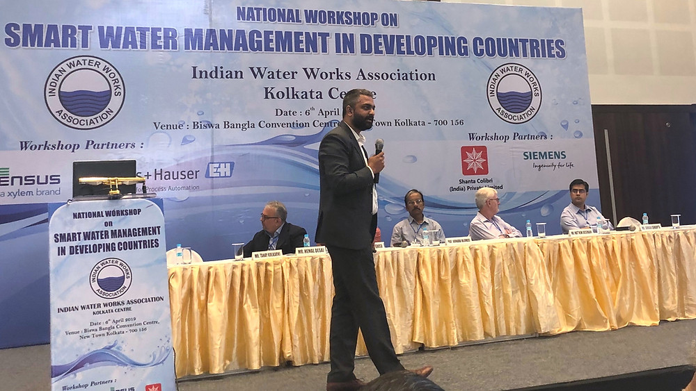 Tanay Kulkarni, Co-Founder, DTK Hydronet Solutions speaking at the workshop