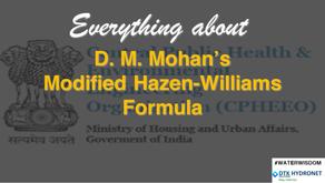 D. M. Mohan's Modified Hazen-Williams Formula for Head Loss