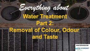 Introduction to commonly used methods for removal of colour, odour and taste from the water: