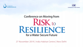 DTK at CII's Conference on Moving from Risk to Resilience for a Water Secure Future at New Delhi