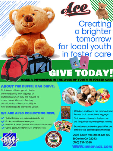 Duffel Bag Donation Drive 2019 FLYER cop