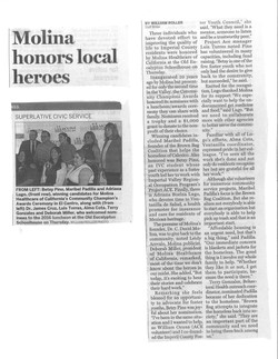 Molina honors local heroes