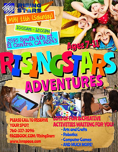 RISING STARS weekend activities MAY 11 c