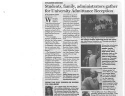 IV Press Univ. Admittance Reception