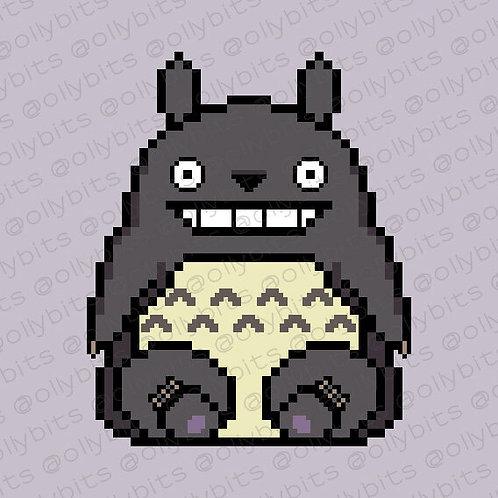 My Neighbor Totoro Pixel Art Acrylic Charm