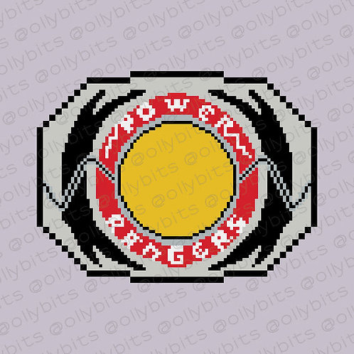 Power Ranger Morpher Pixel Art Acrylic Charm