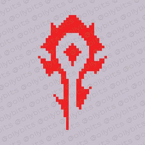 World of Warcraft Pixel Art Acrylic Charm