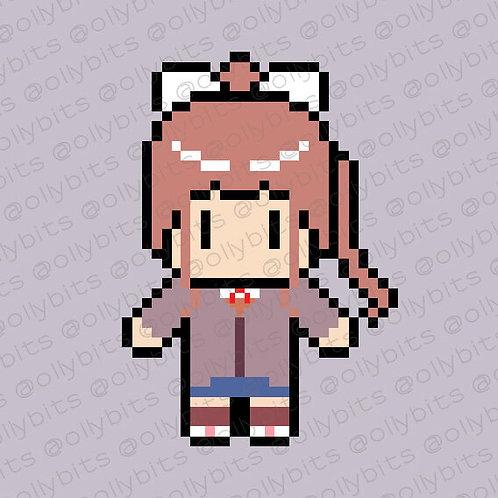 Doki Doki Literature Club Monika Pixel Art Acrylic Charm