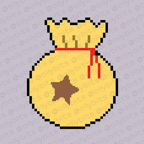 Animal Crossing Bells Pixel Art Acrylic Charm