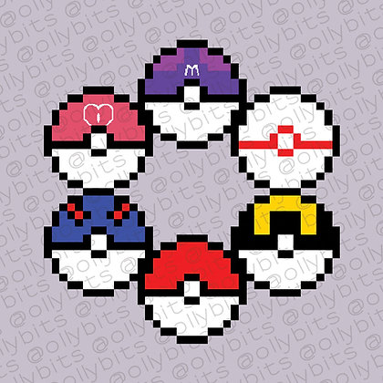 Pokemon Pixel Art Acrylic Charms