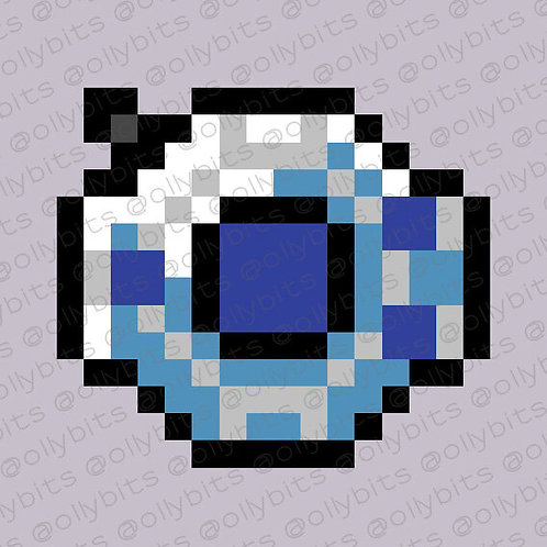 Digimon Season 1 Digivice Pixel Art Acrylic Charm