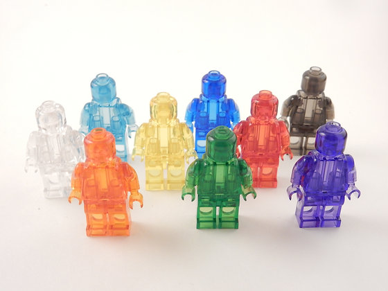Transparent lot of 9 minifigs