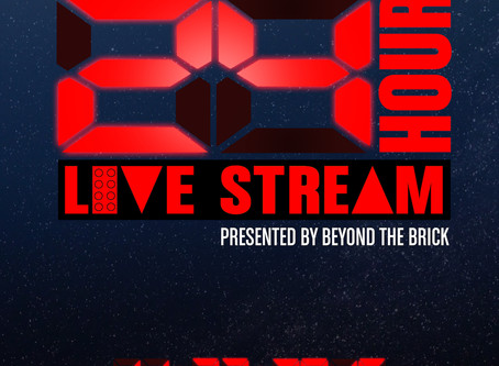 Announcing the second annual Creations for Charity 24 hour live stream presented by Beyond the Brick