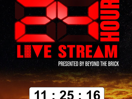 Announcing the third annual Creations for Charity 24 hour live stream presented by Beyond the Brick!