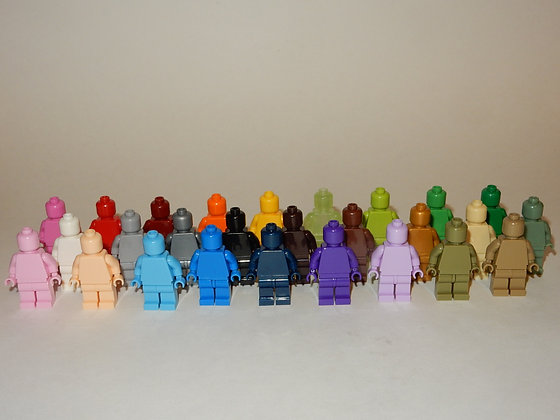 Monocolored minifigs lot of 27