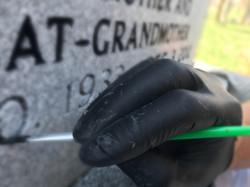 Headstone Hand-Painting