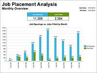 Job Placement Analysis Graph