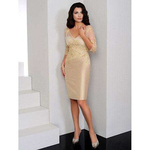 Gold Mother of the Bride outfit by Irresistible IR8504. UK 16