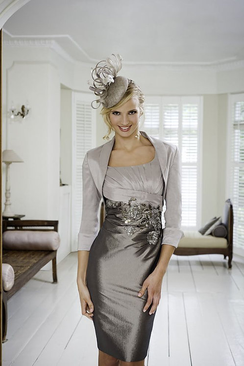 Taupe Mother of the Bride outfit by Ispirato IM963 UK 20