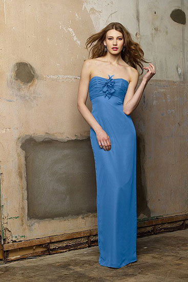 Gorgeous Bright Blue Chiffon Prom/Bridesmaid/Evening dress. UK 10 US 8.