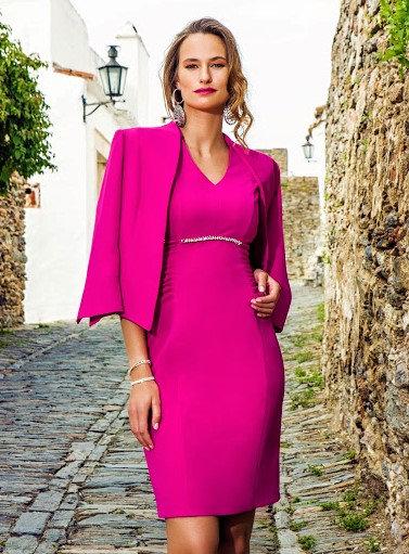 Michaela Louisa Fuchsia Pink suit. Size 14