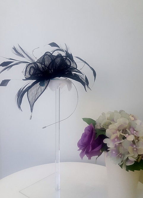 Stunning Black Fascinator