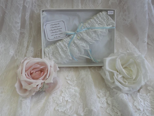 Luxury Lucky Sixpence and Garter Keepsake Set