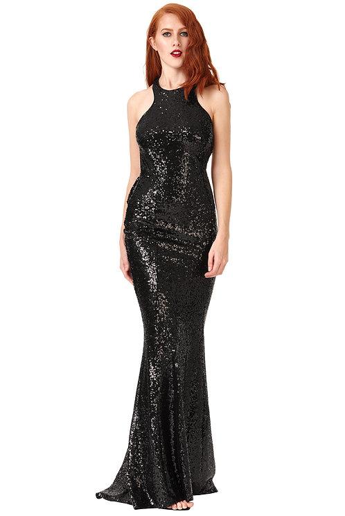 Black Sequin Prom, Evening dress UK size 12