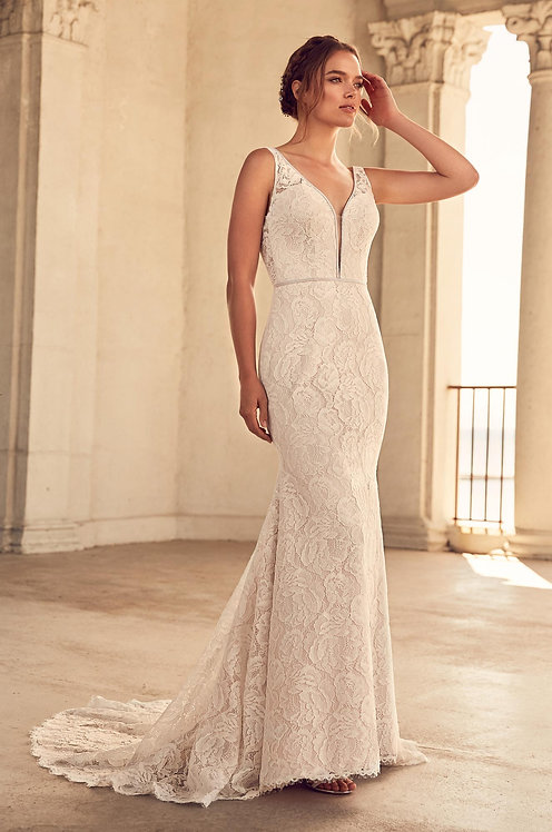 Paloma Blanca Wedding Dress 4792 size UK 16