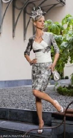 Mother of the Bride outfit by Linea Raffaelli. UK 12