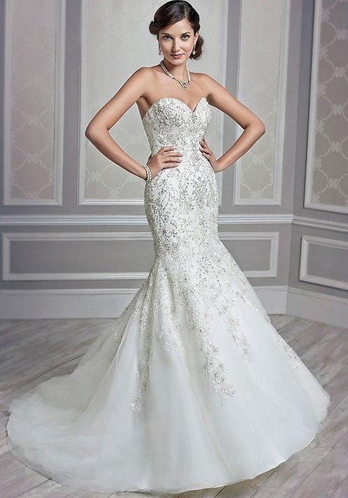 Gorgeous Kenneth Winston 1591 Wedding Dress size UK 12
