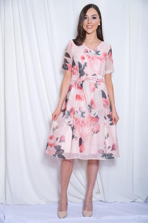 Peach floral dress by Coco Doll. UK sizes 12 & 16