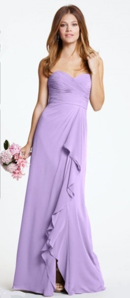 Chiffon dress in Lavender by Watters & Watters. UK 12 US 10.