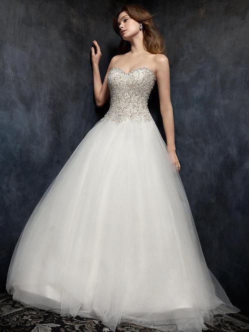 Stunning Kenneth Winston Wedding gown '1752' Size UK 16