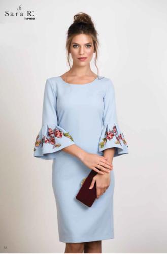 Sara R Pale Blue Occasions Dress. UK Sizes 8/16